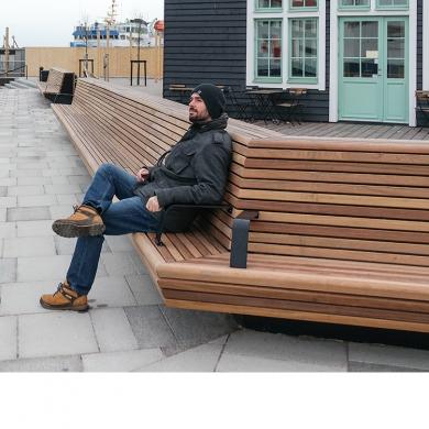 Mobilier urbain- Cliffhanger Bench, Helsingborg (SE)
